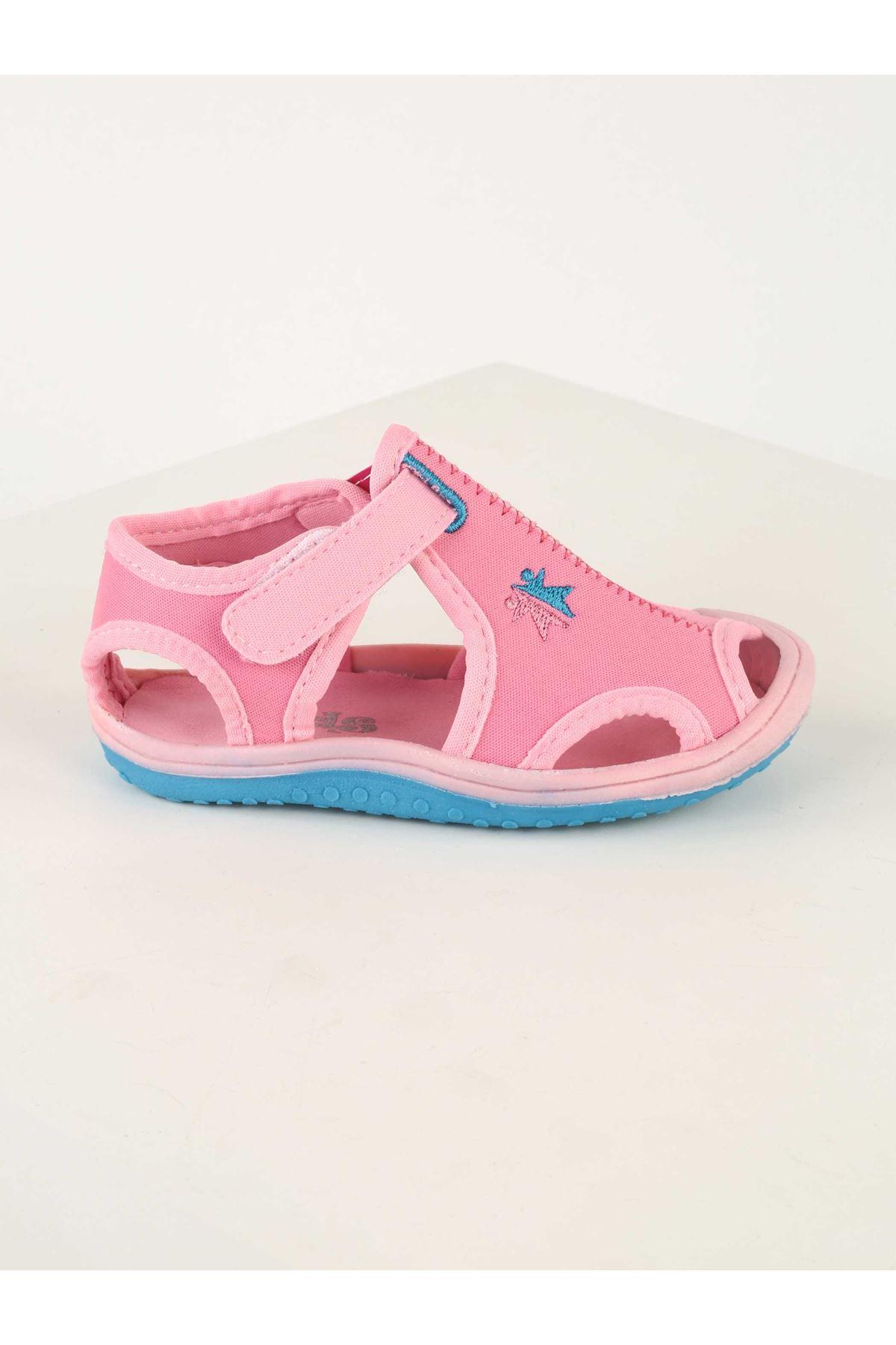 Pembe Kız Bebek Sandalet Ayakkabı