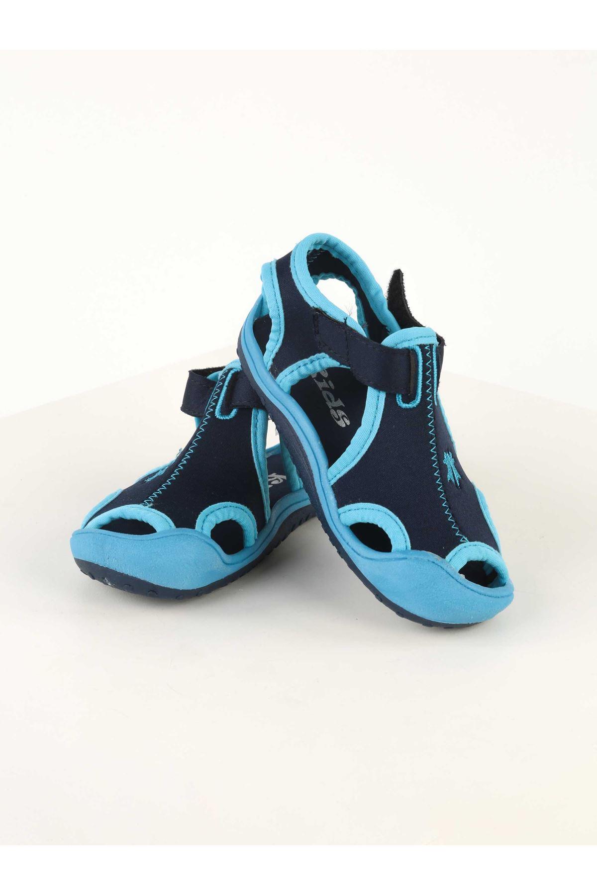 Mavi Erkek Bebek Sandalet Ayakkabı