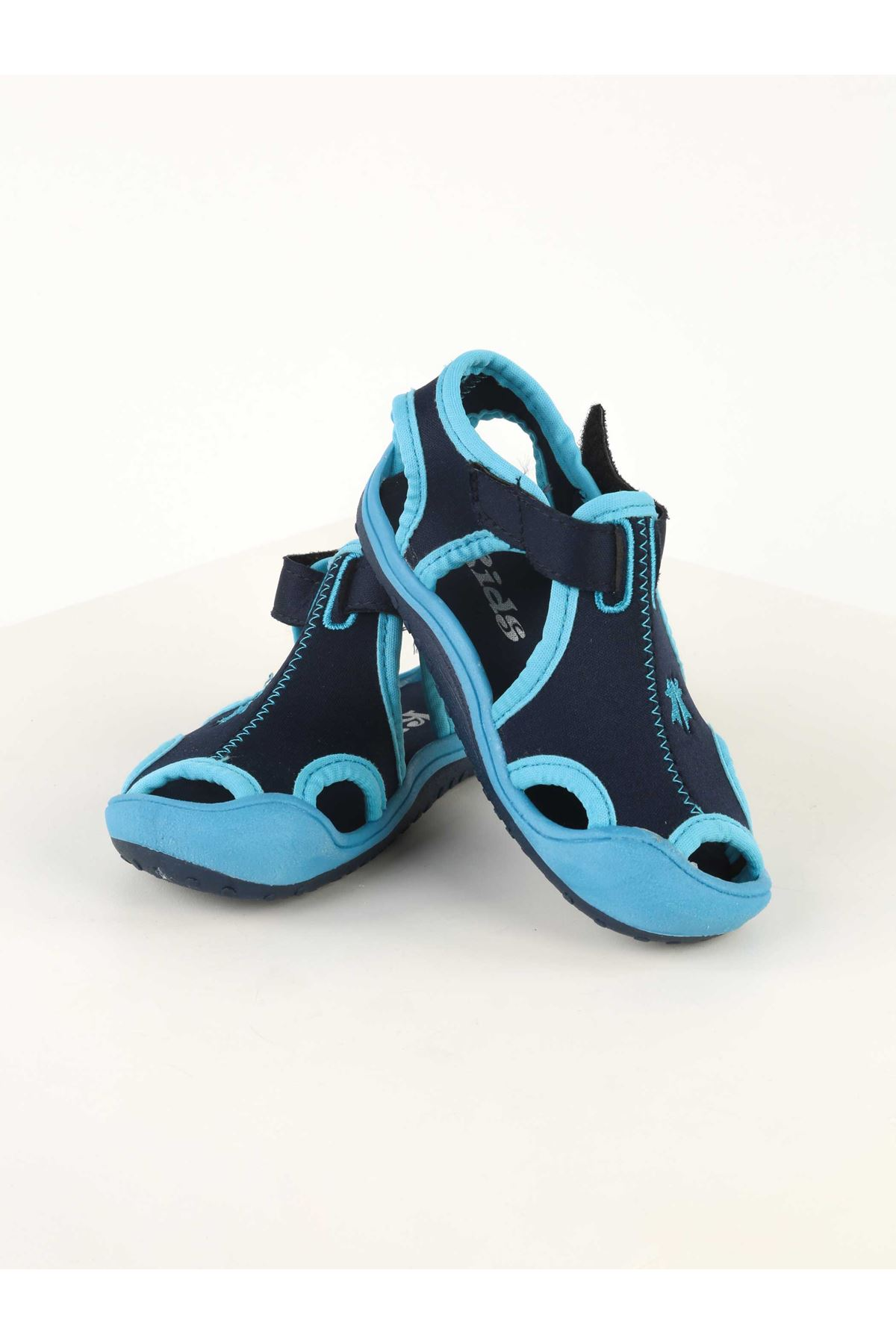 Blue Boy Sandals Slippers Wear in Summer Outdoor Shoes Male Teen Holiday Non-Sweaty Non-Slip Pool Sea Holiday usage Models