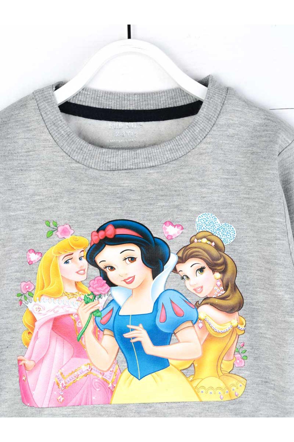 Gri Mevsimlik Kız Çocuk Sweatshirt