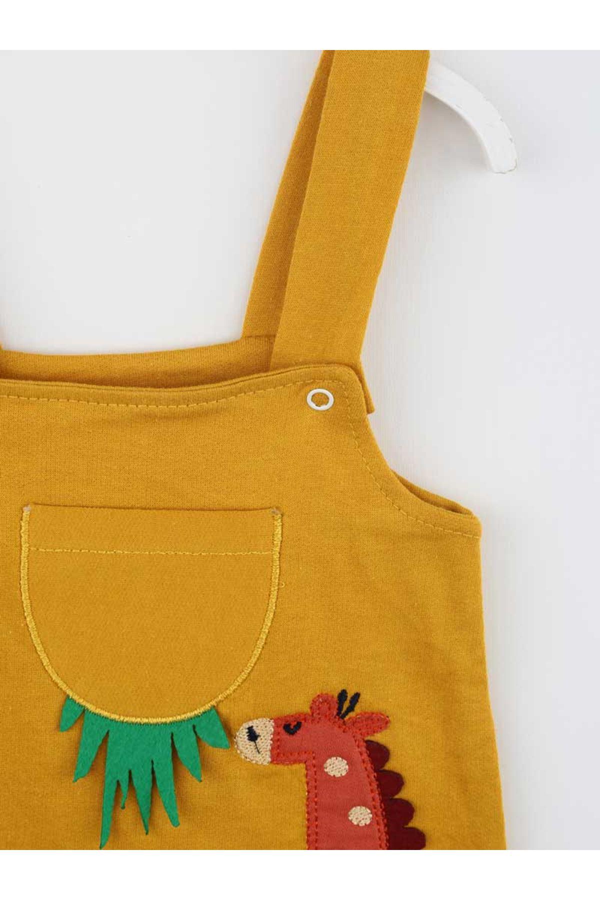 Sarı Erkek Bebek Tulum