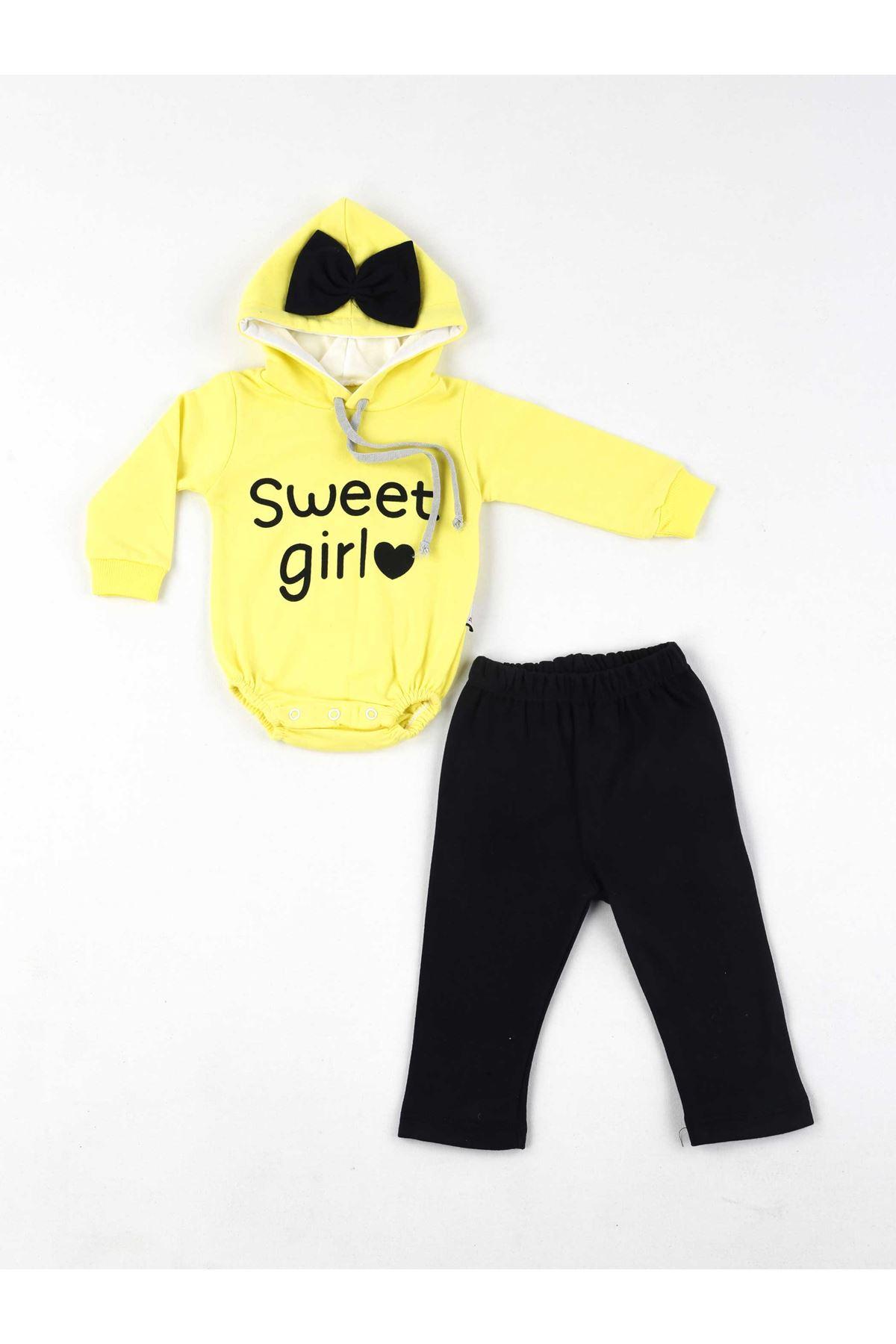 Sarı Kız Bebek 2 li Takım