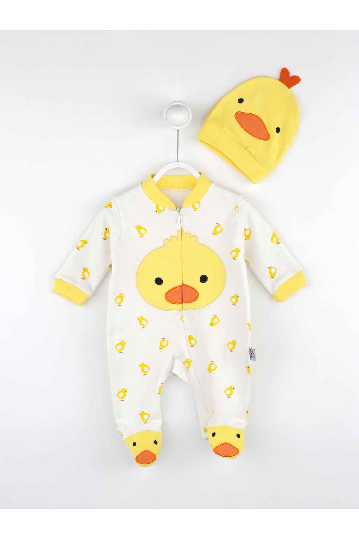Yellow Baby Boy Hat Jumpsuit