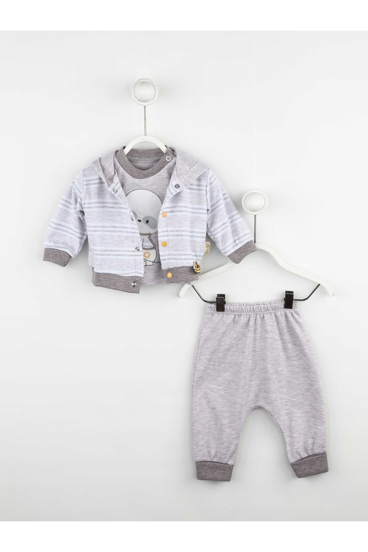 Brown Baby Boy 3 Pcs Set