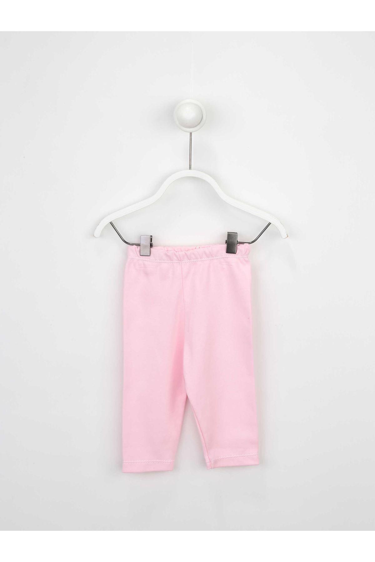 Pembe Kız Bebek Taytlı Takım