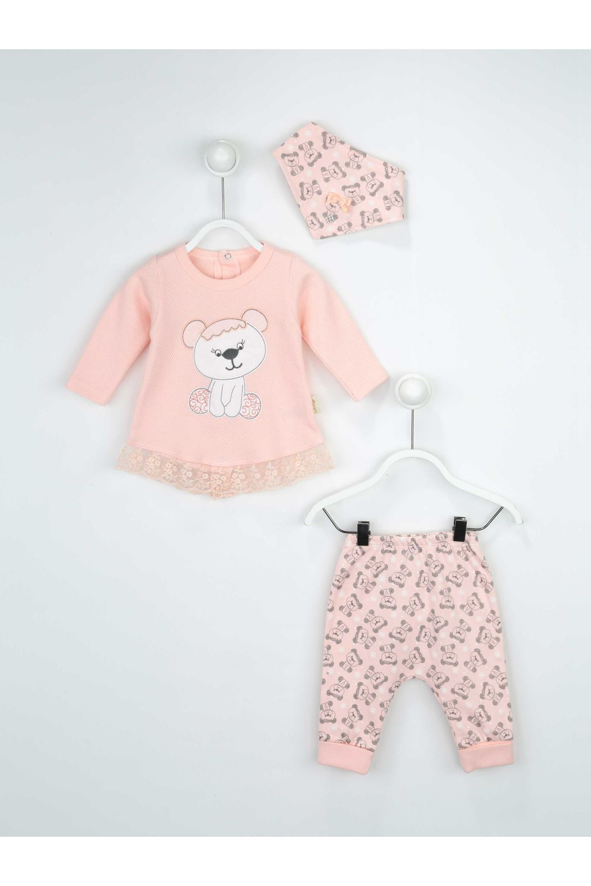 Somon Kız Bebek 3 li Takım
