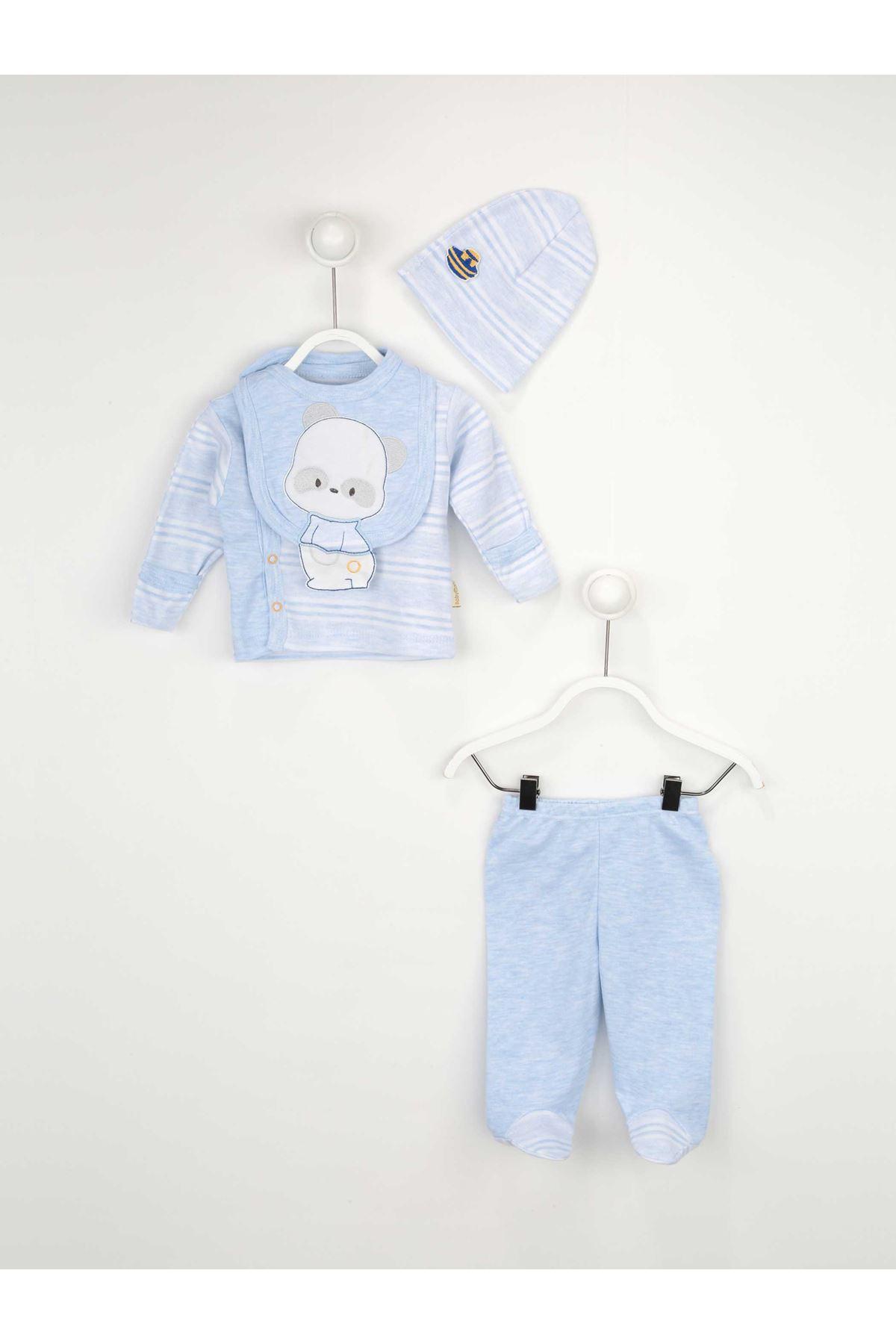 Mavi Erkek Bebek 4 lü Hastane Çıkışı