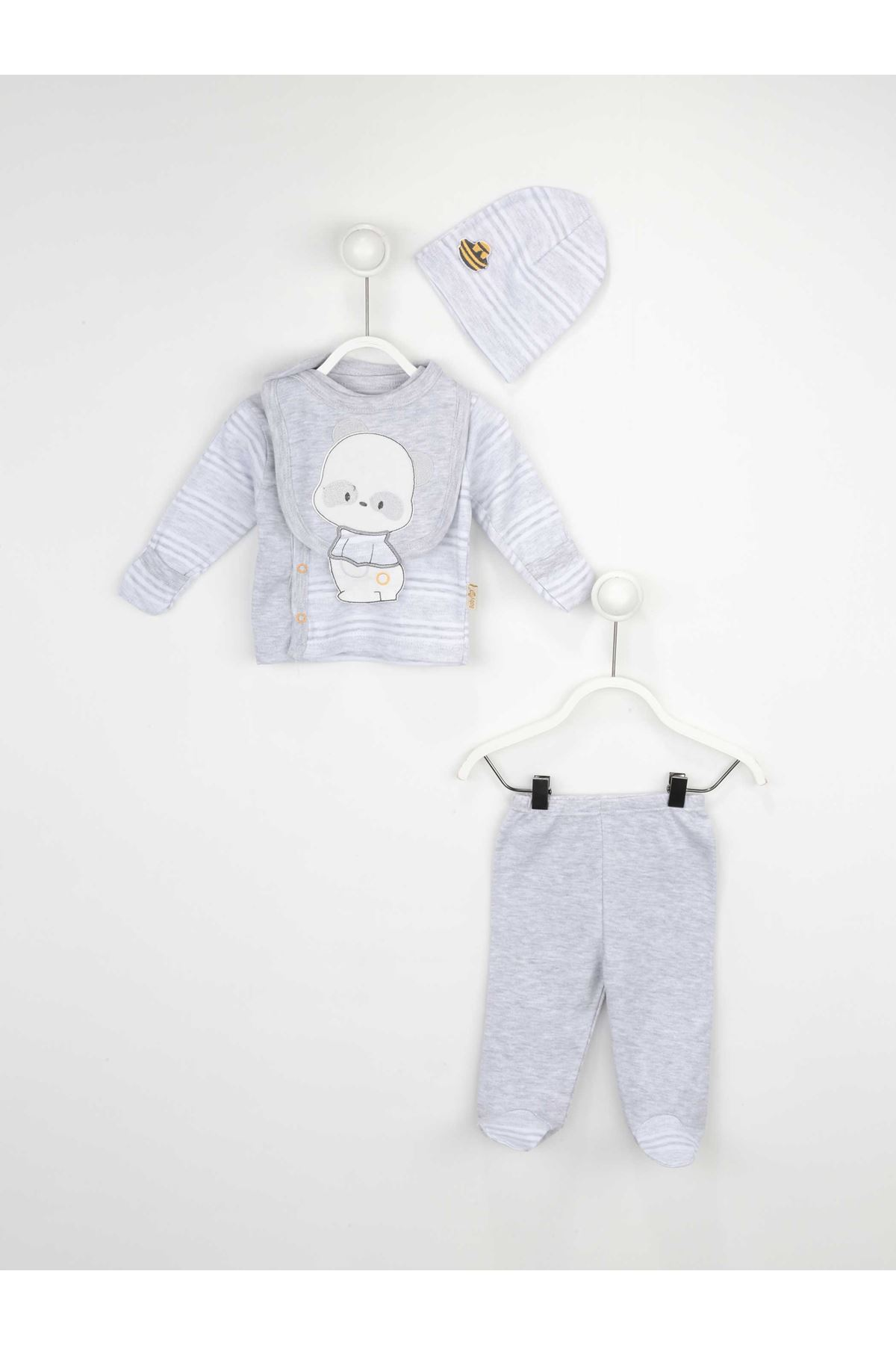 Gray Male Baby 4 PCs Hospital Output