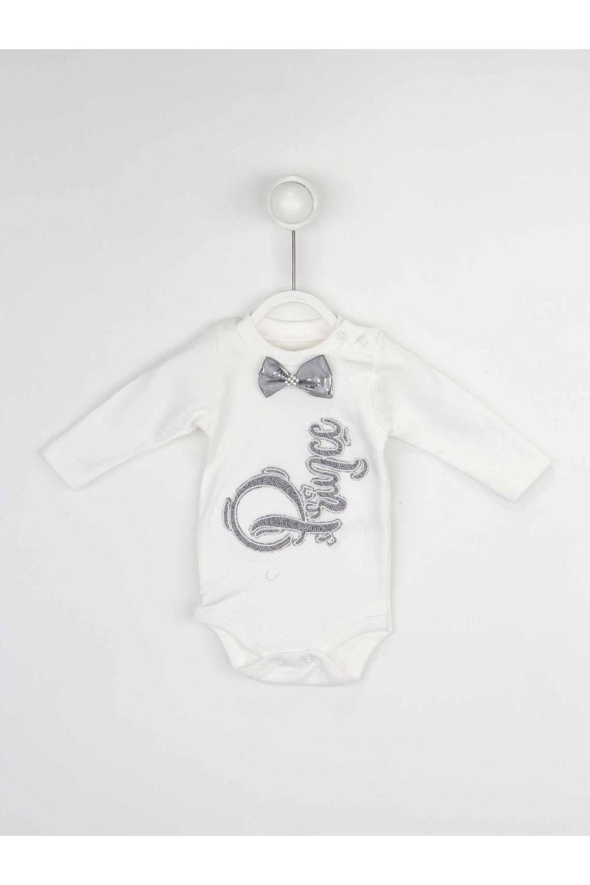 Gri Erkek Bebek 3 lü Takım