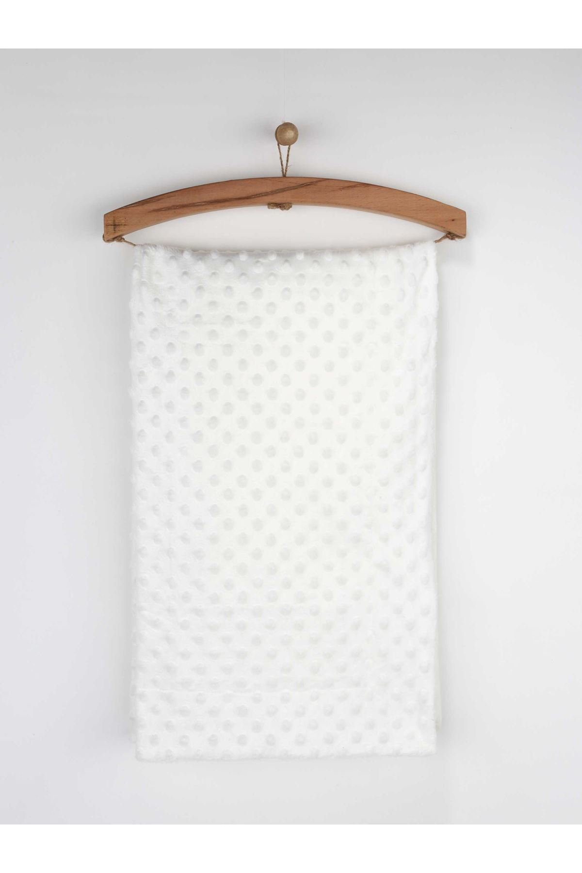 White 80x100 cm Chick Peas Pattern Baby Blanket