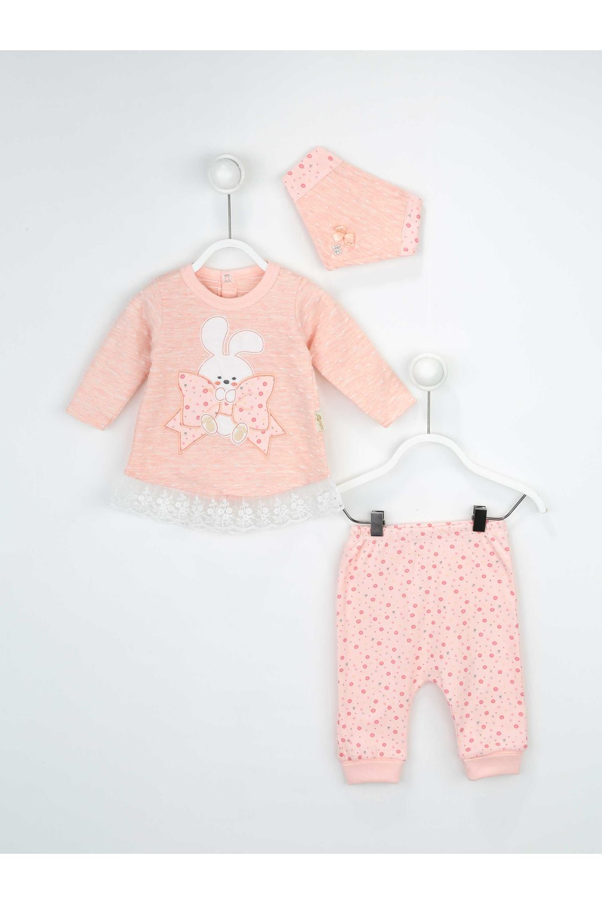 Newborn baby Girl 3 piece suit set cotton hospital Clothing out daily casual Girls Babies clothes style fashion models