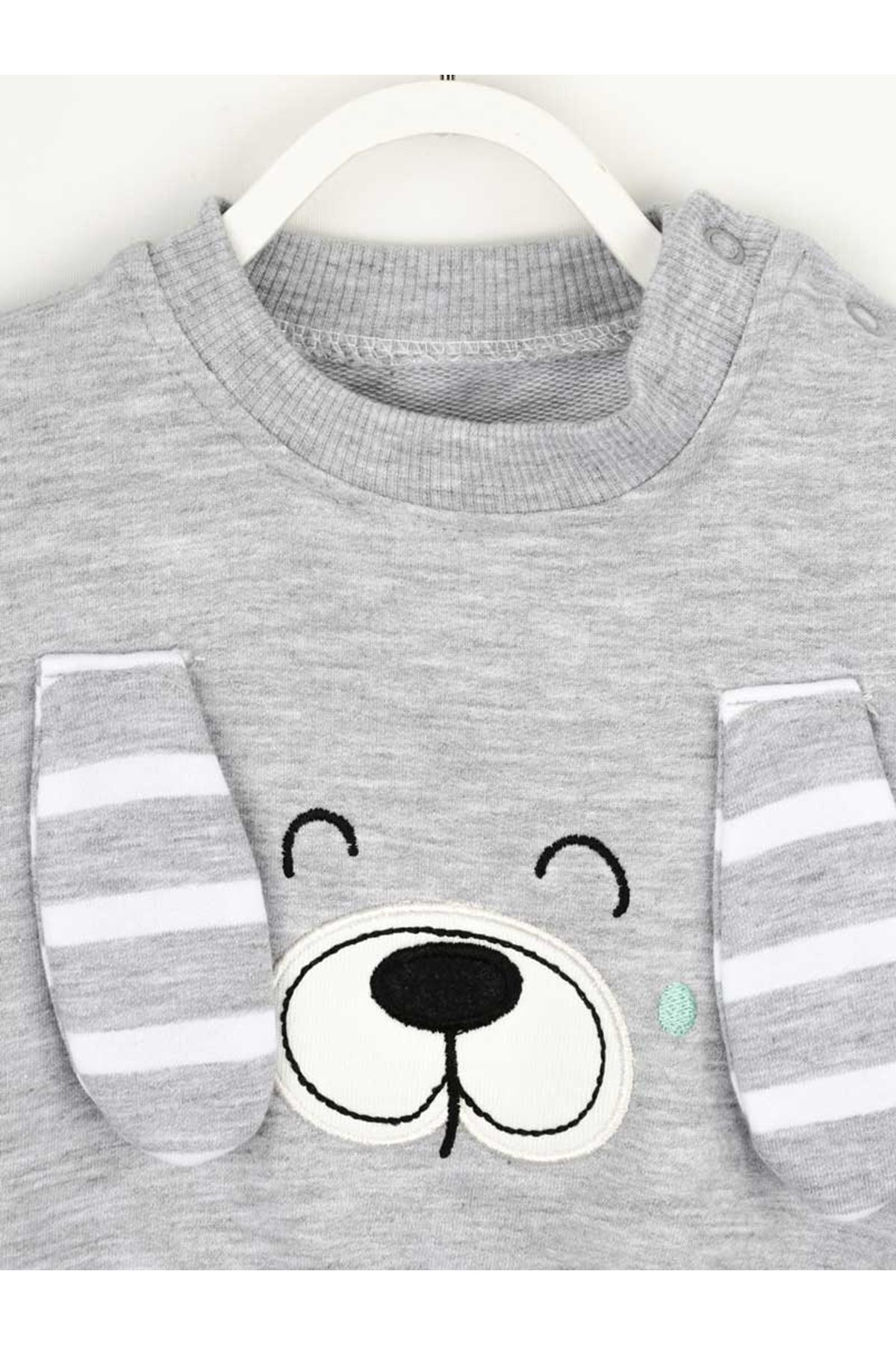 Gray Male Baby 2 Piece Suit