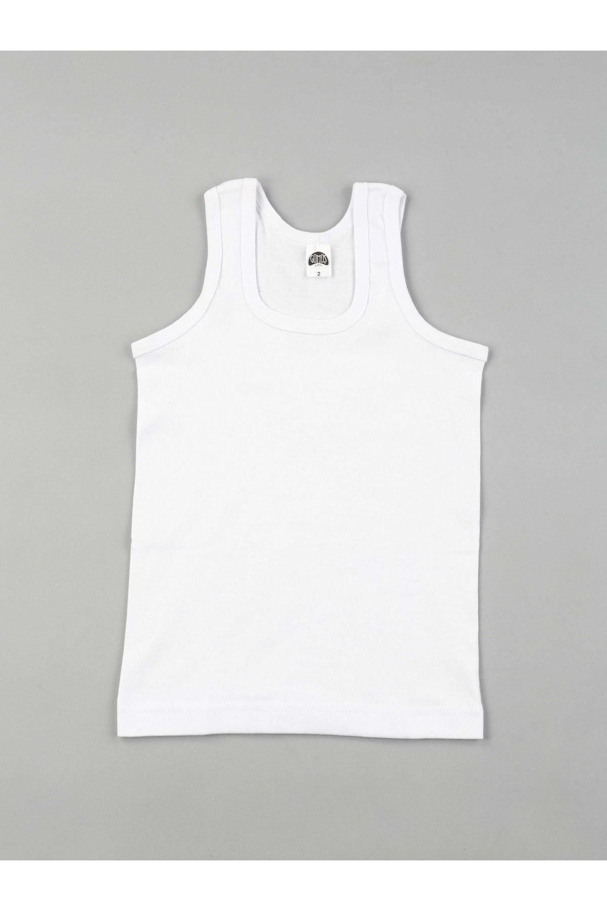 Gümüş İç Giyim 6'lı Erkek Çocuk Ribana Atlet