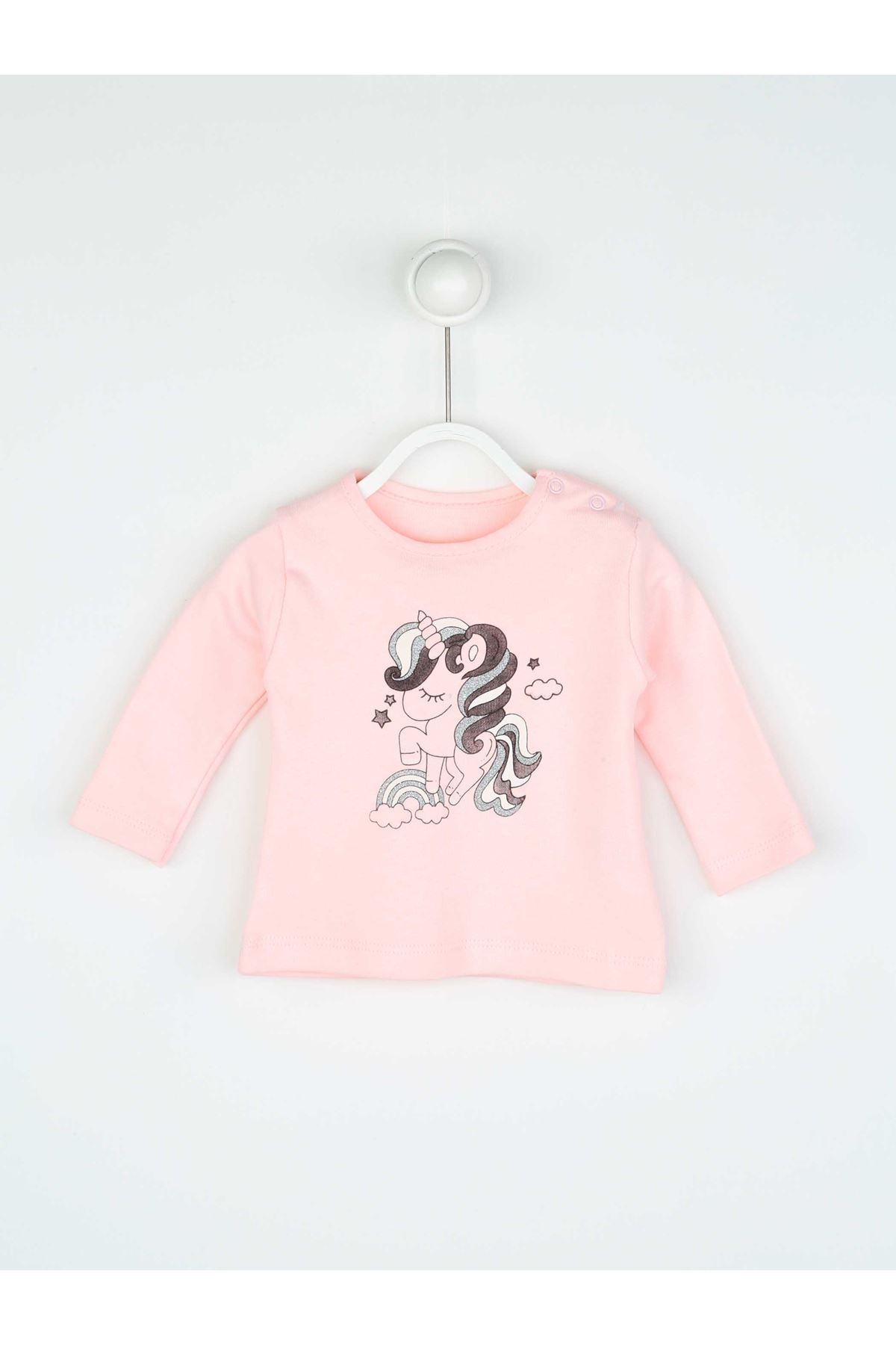 Pembe Mevsimlik Kız Bebek Yelekli Takım