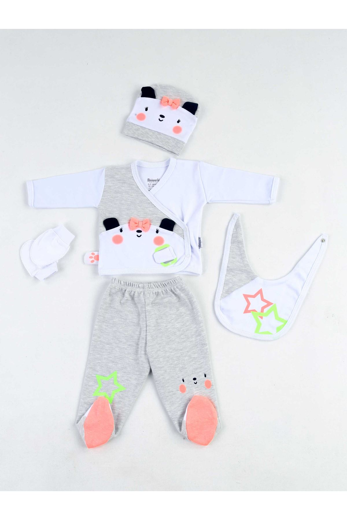 White Newborn Baby 10 piece suit set cotton Gentleman Princess Hospital Outlet daily casual Babies clothes style fashion