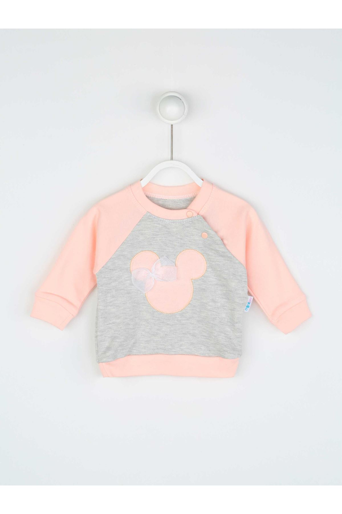 Powder Pink Baby Girl 2 Piece Set Tracksuit Bottom Babies Girls Wear Top Outfit Cotton Casual Casual Outfit Models