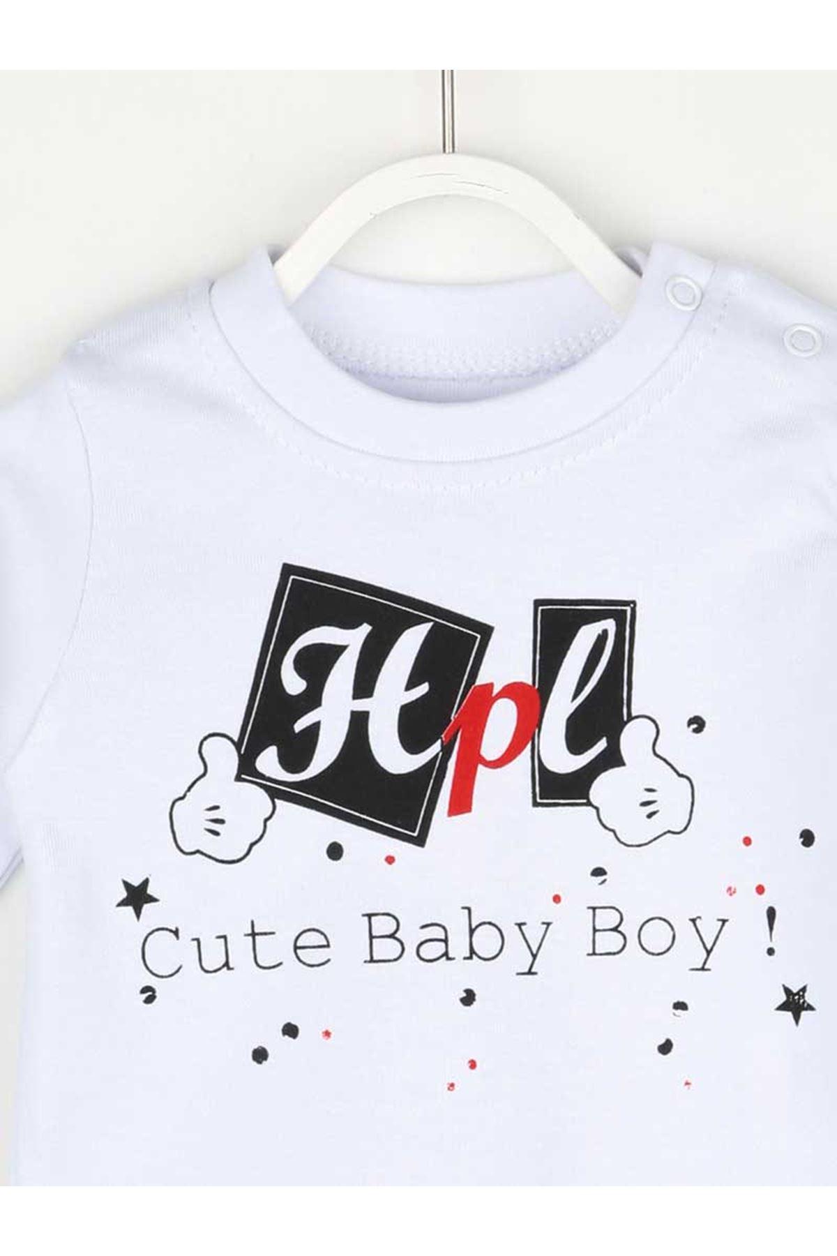 Gri Mevsimlik Erkek Bebek Yelekli Takım