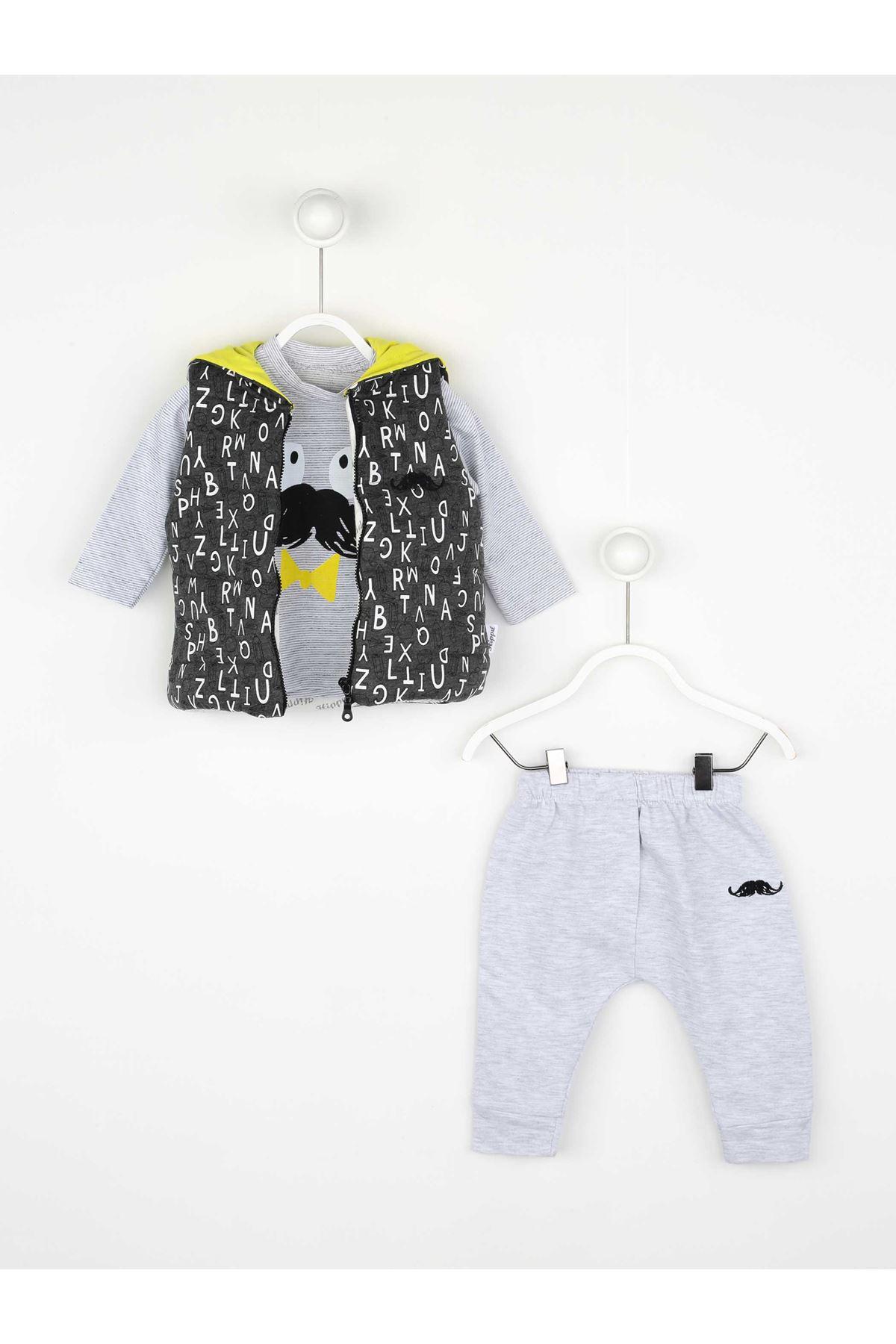 Gray Seasonal Male Baby Vest Suit