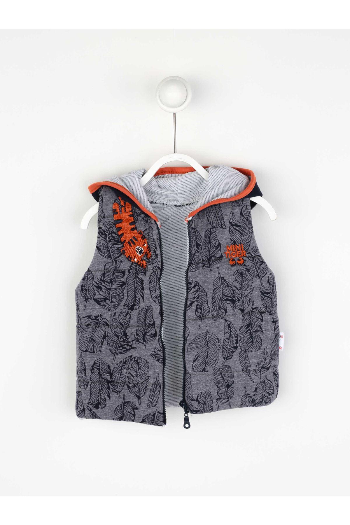 Lacivert Mevsimlik Erkek Bebek Yelekli Takım