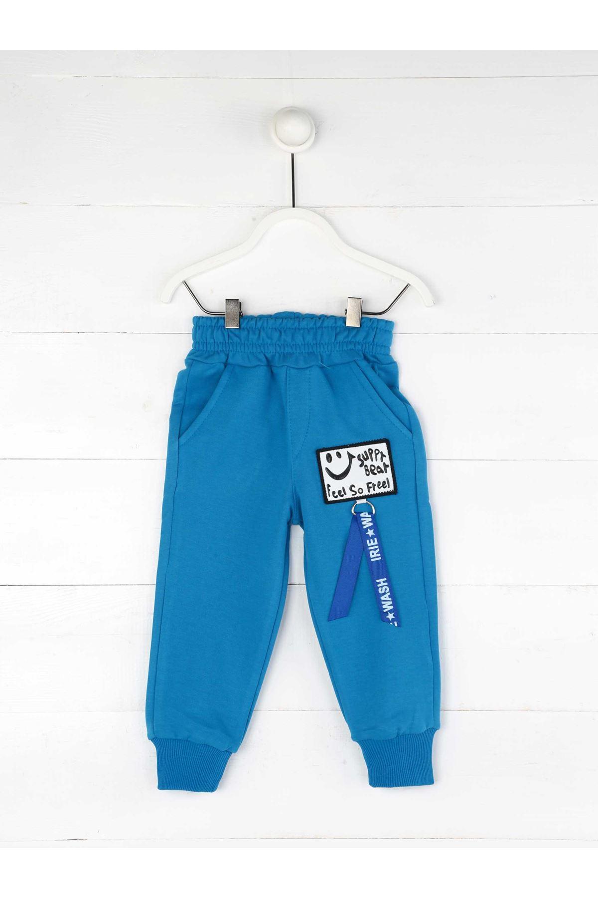 Mavi Mevsimlik Erkek Çocuk Eşofman Altı