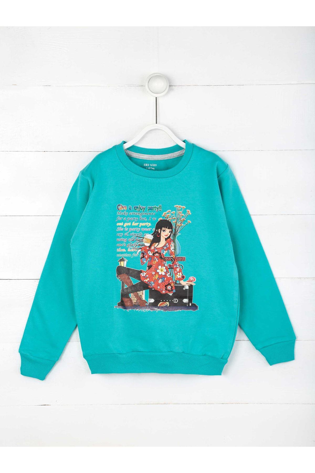 Water Green Seasonal Girl Child Sweatshirt