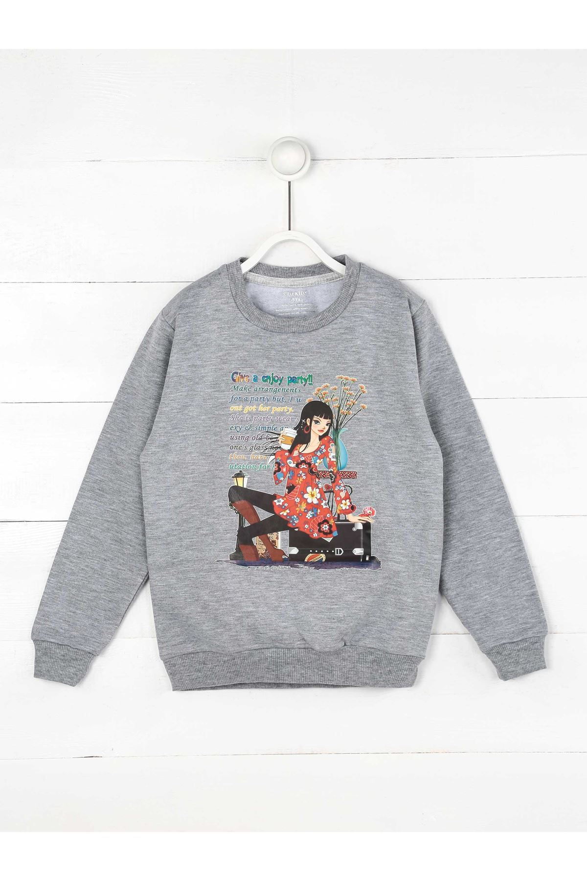 Gray Seasonal Girl Child Sweatshirt