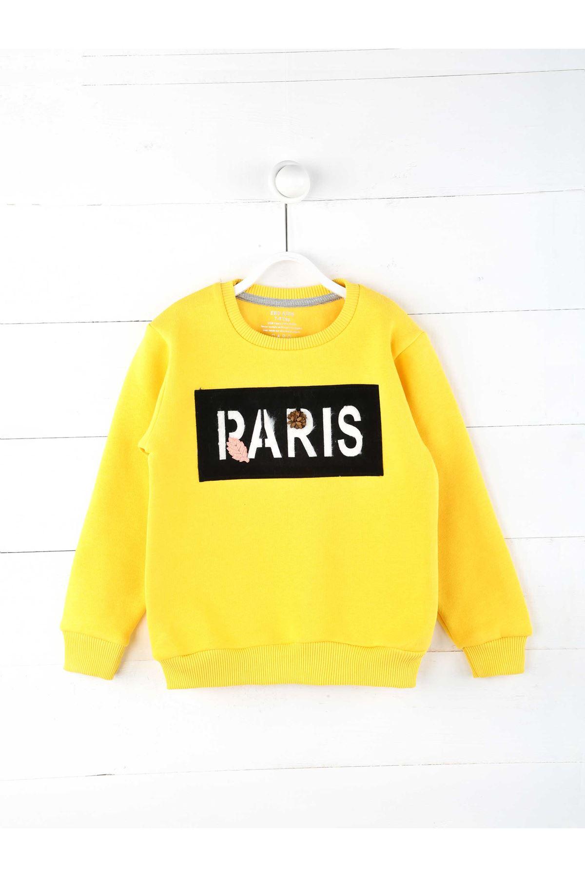 Sarı Kışlık Kız Çocuk Sweatshirt