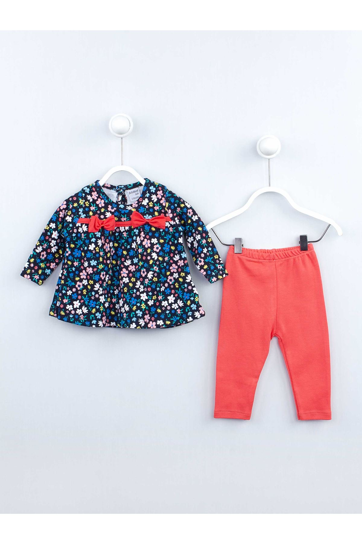 Grenadine red Baby Girl Daily 2 Piece Suit Set Cotton Daily Seasonal Casual Wear Girls Babies Suit Outfit ModeKız Baby The tights suit