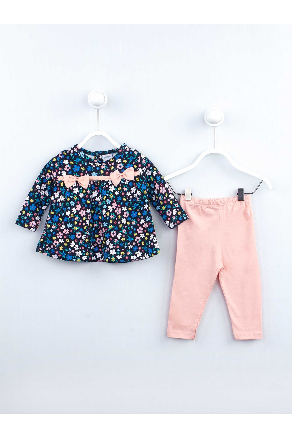 Powder pink Baby Girl Daily 2 Piece Suit Set Cotton Daily Seasonal Casual Wear Girls Babies Suit Outfit Models