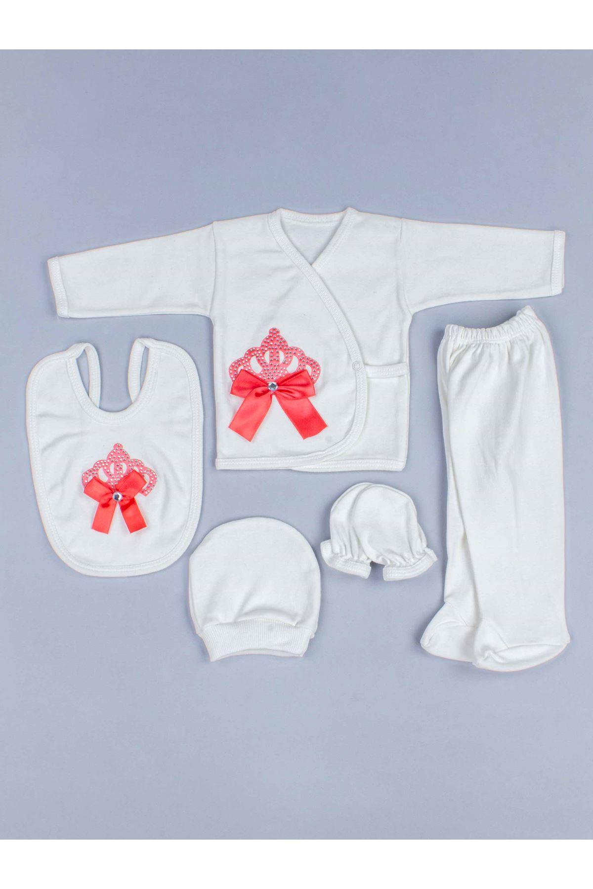 Narçiçeği Kraliçe Taçlı Kız Bebek 5 li Hastane Çıkışı