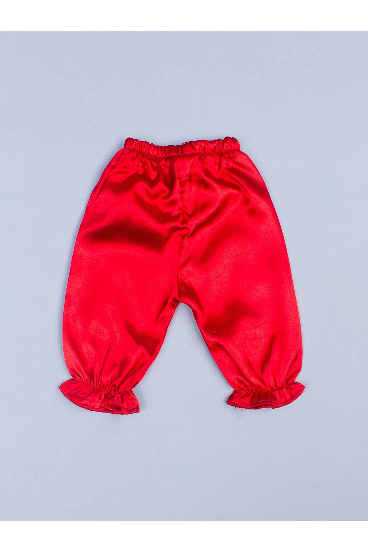 Kırmızı 5 li Kız Bebek Hürrem Takım