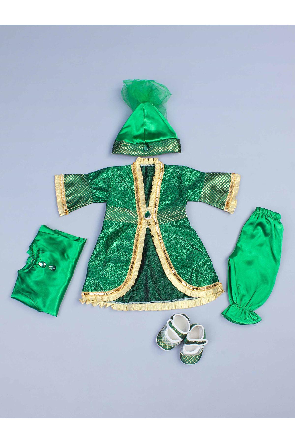 Yeşil 5 li Kız Bebek Hürrem Takım