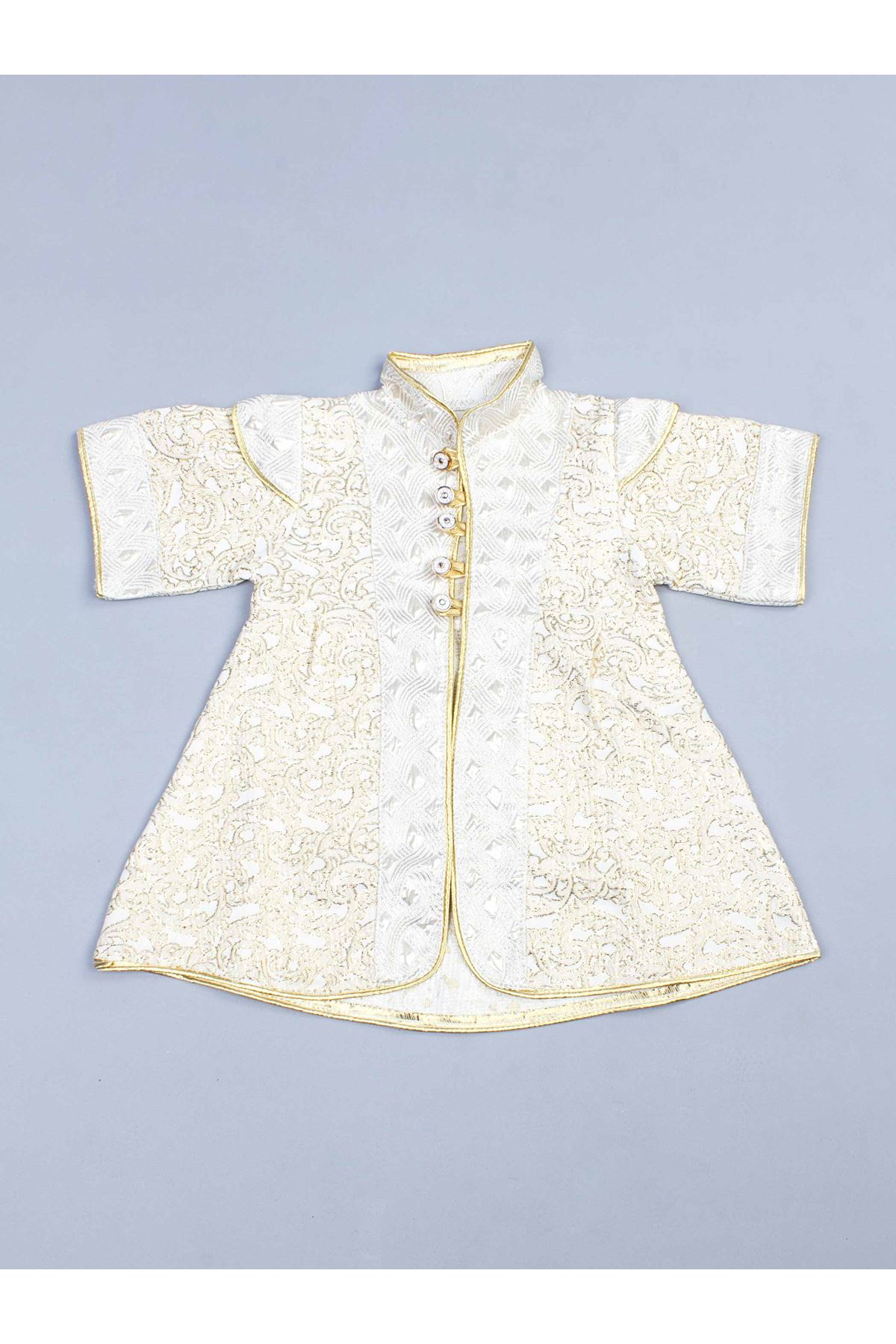 Girl Boy Baby Yellow Prince Suit Vintage Nostalgia Ottoman Prince Princess Special Occasions Stylish Babies 5-piece Clothing Mod