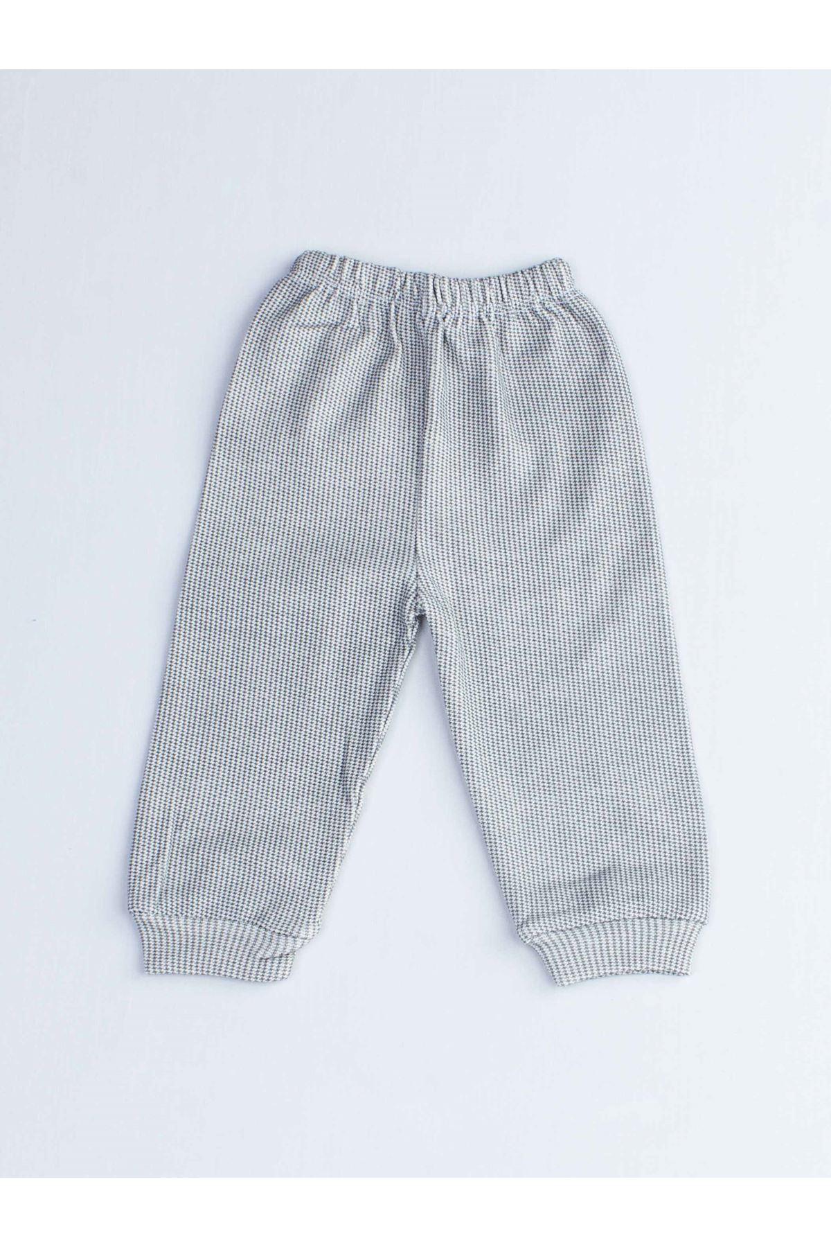 Gri Köpekli Erkek Bebek Pijama Takımı