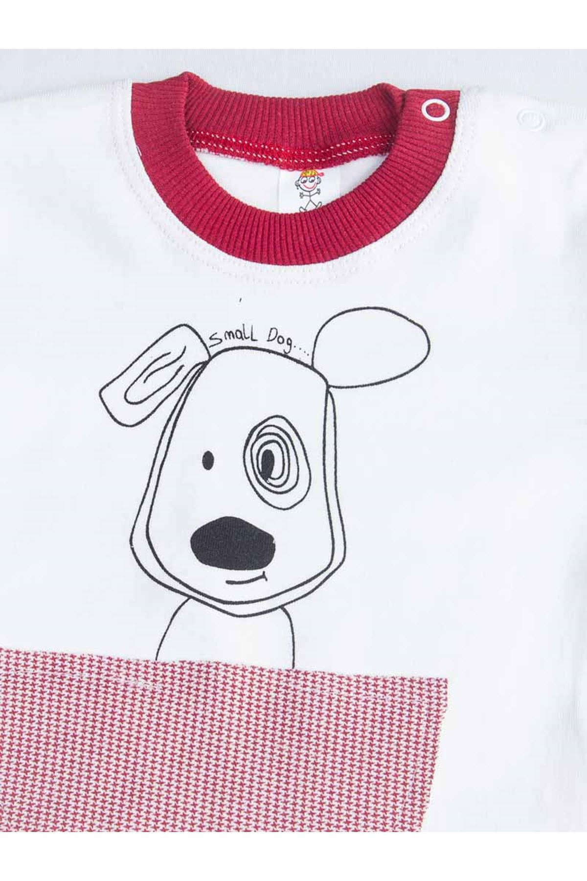 Burgundy Dog Baby Boy Pajamas Set