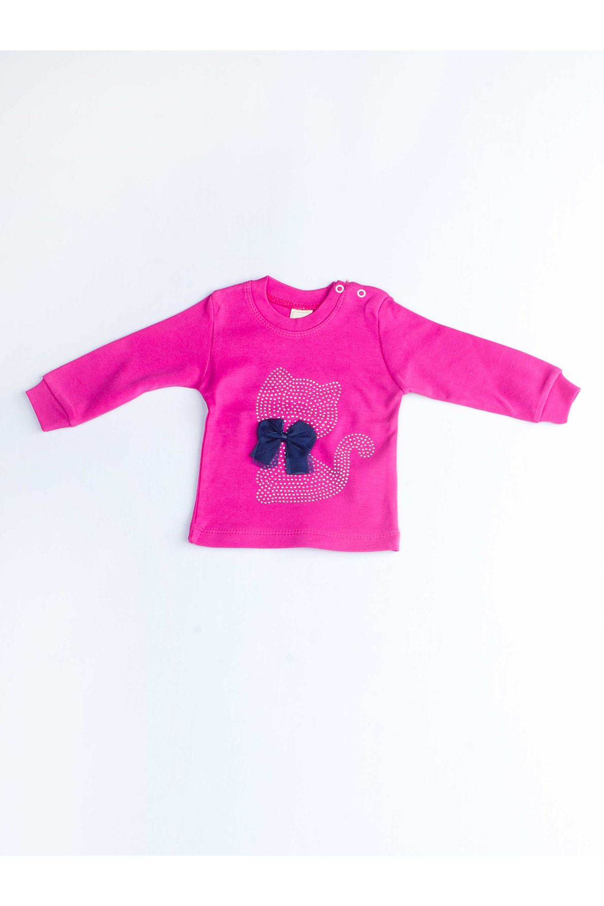 Fuchsia Baby Girl 2 Piece Set Tracksuit Bottom Babies Girls Wear Top Outfit Cotton Casual Casual Outfit Models