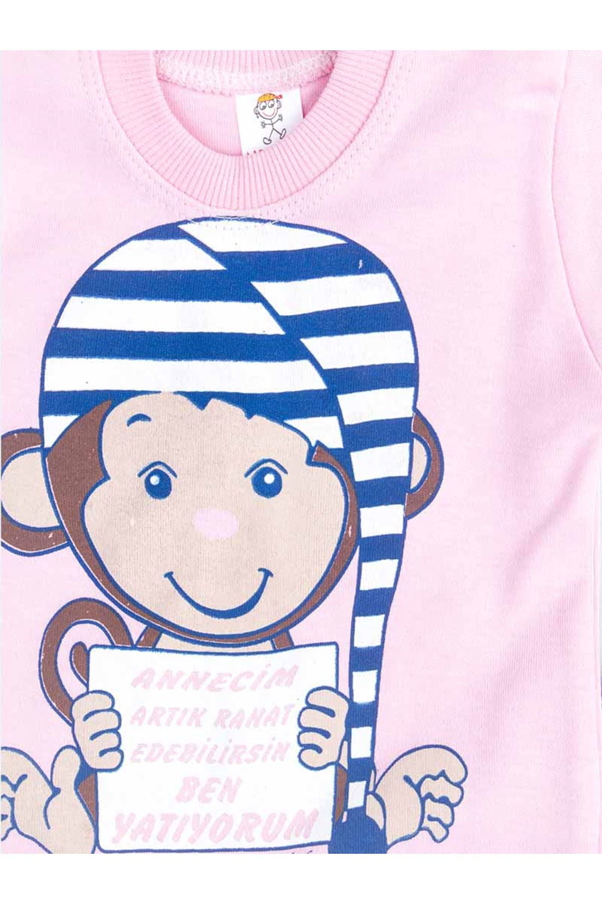Pembe Kız Bebek Pijama Takımı