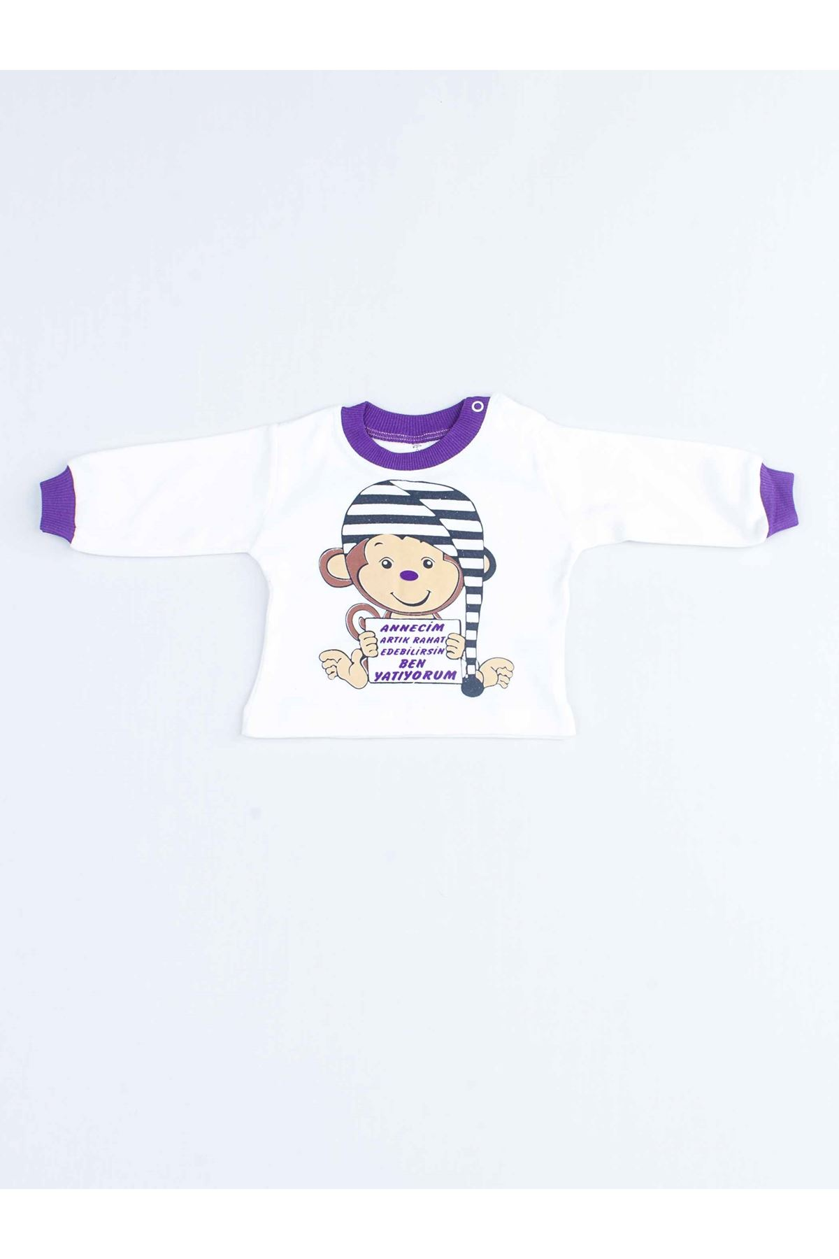 Mor Kız Bebek Pijama Takımı