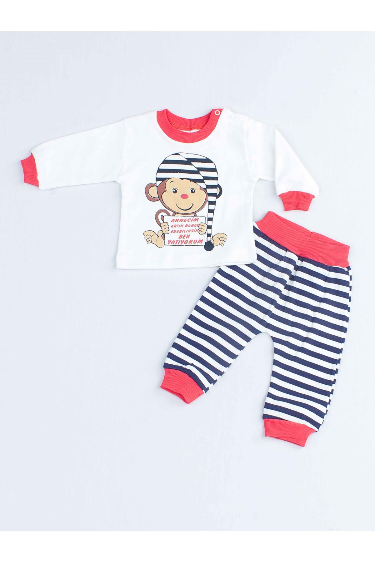 Grenadine red Baby Girl Pajamas set