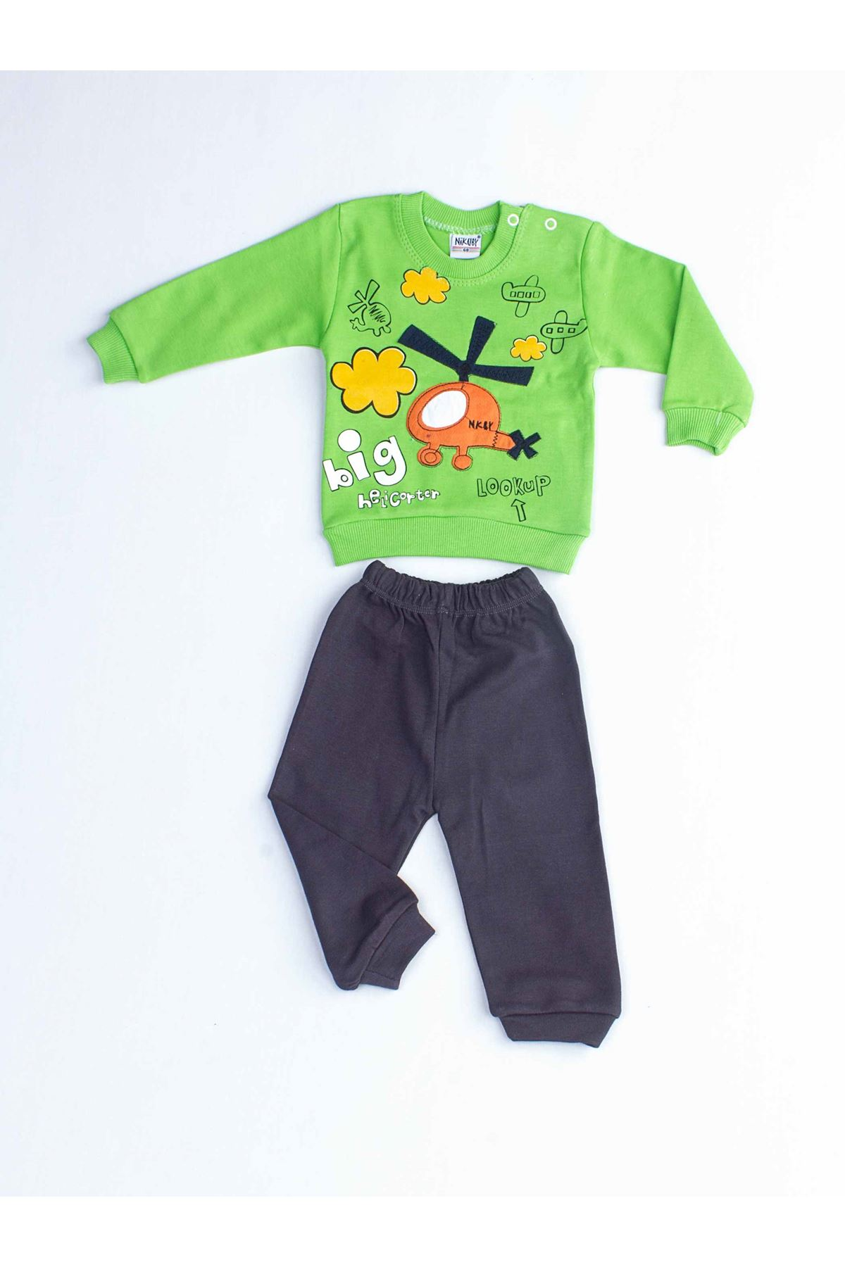 Green Baby Boy Daily 2 Piece Suit Set Cotton Daily Seasonal Casual Wear Boys Babies Suit Outfit Models