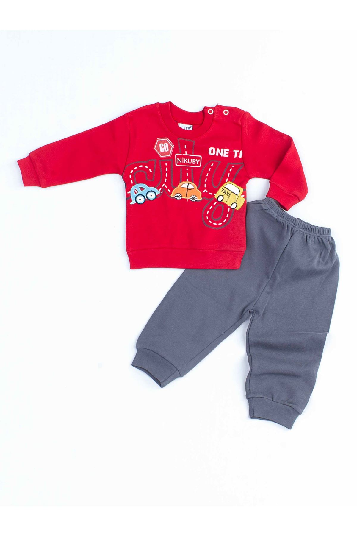 Red Male Baby 2 Piece Suit