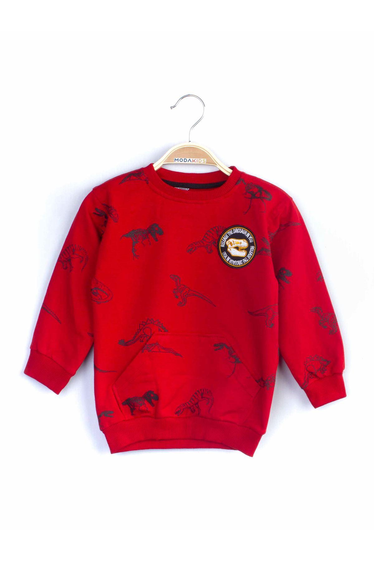Kırmızı Mevsimlik Erkek Çocuk 2 li Takım