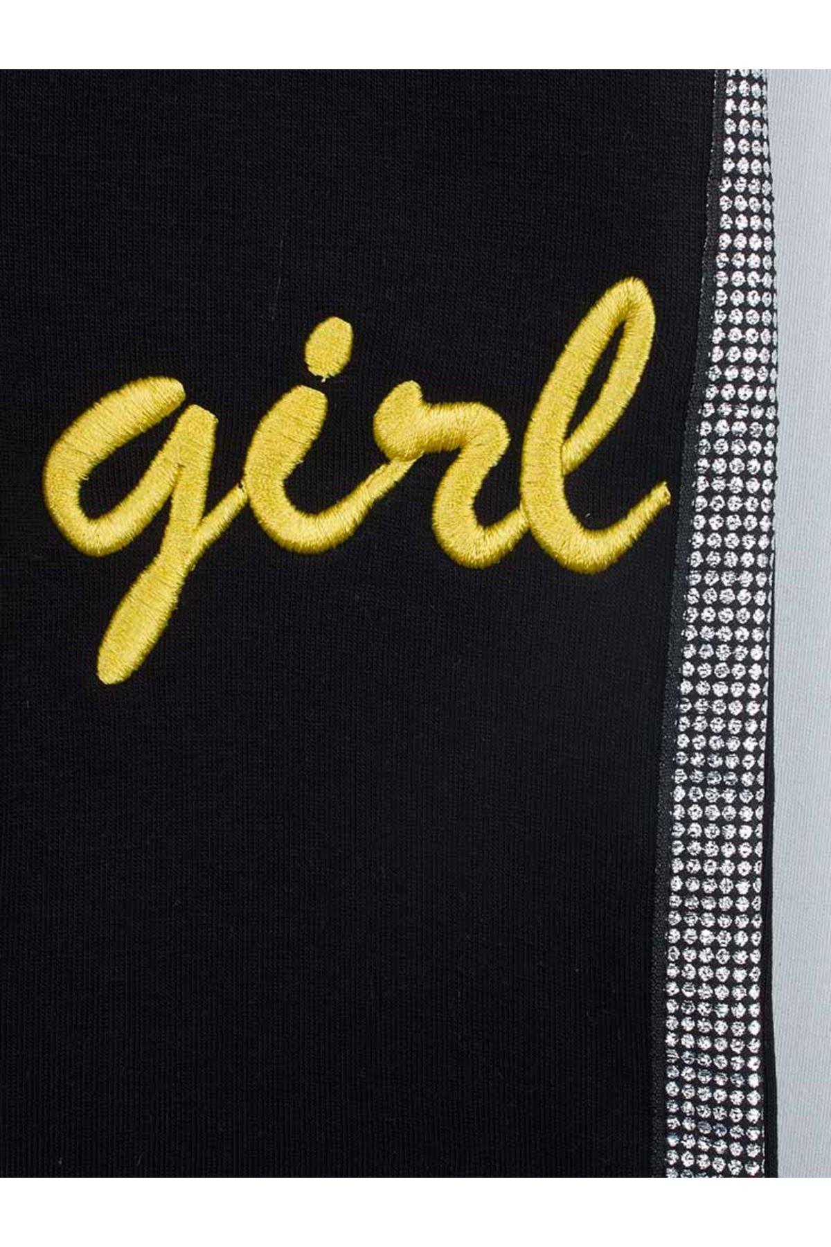 Sarı Kışlık Kız Çocuk Eşofman Takımı