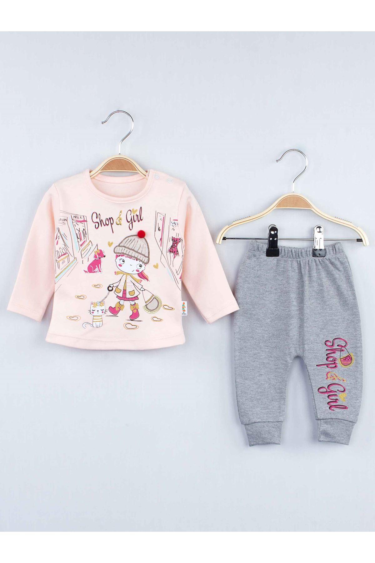 Powder Seasonal Girl Baby 2 Piece Suit