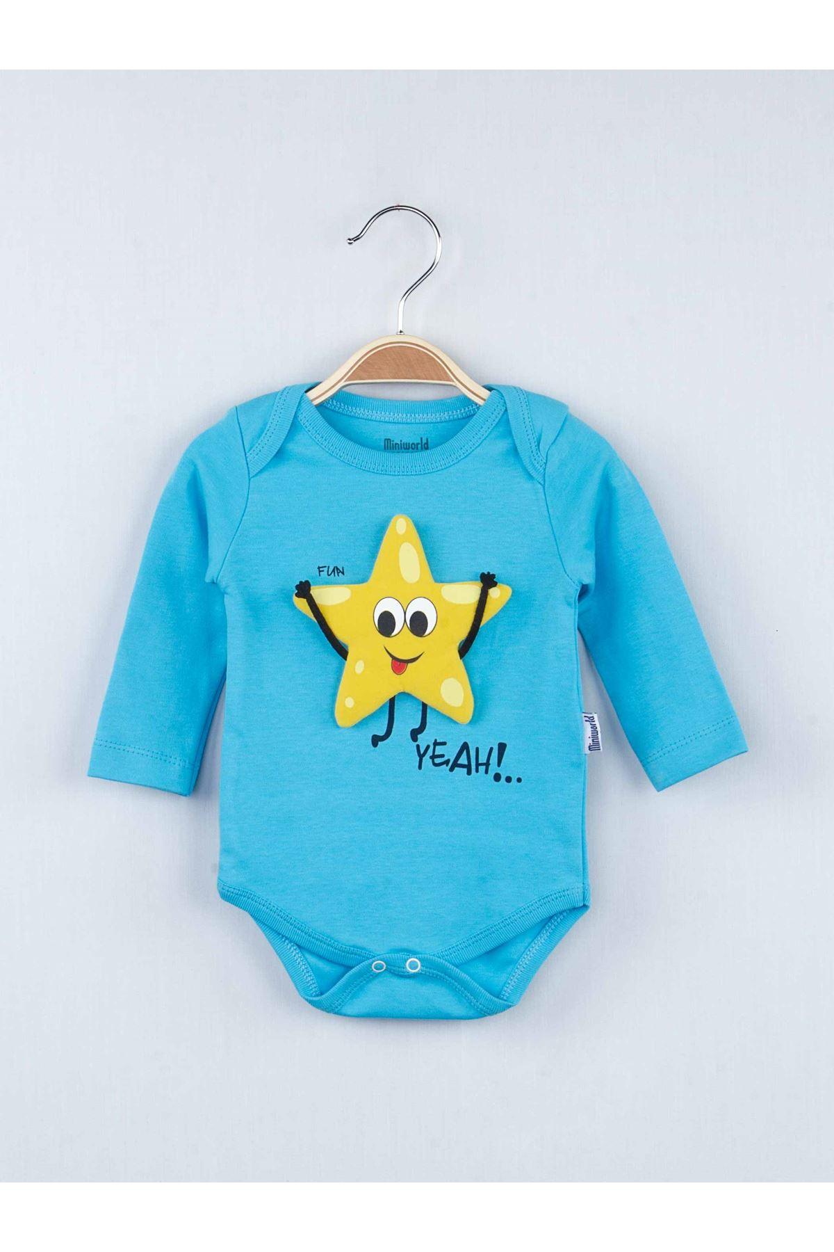 Mavi Mevsimlik Erkek Bebek Badili 3 lü Takım