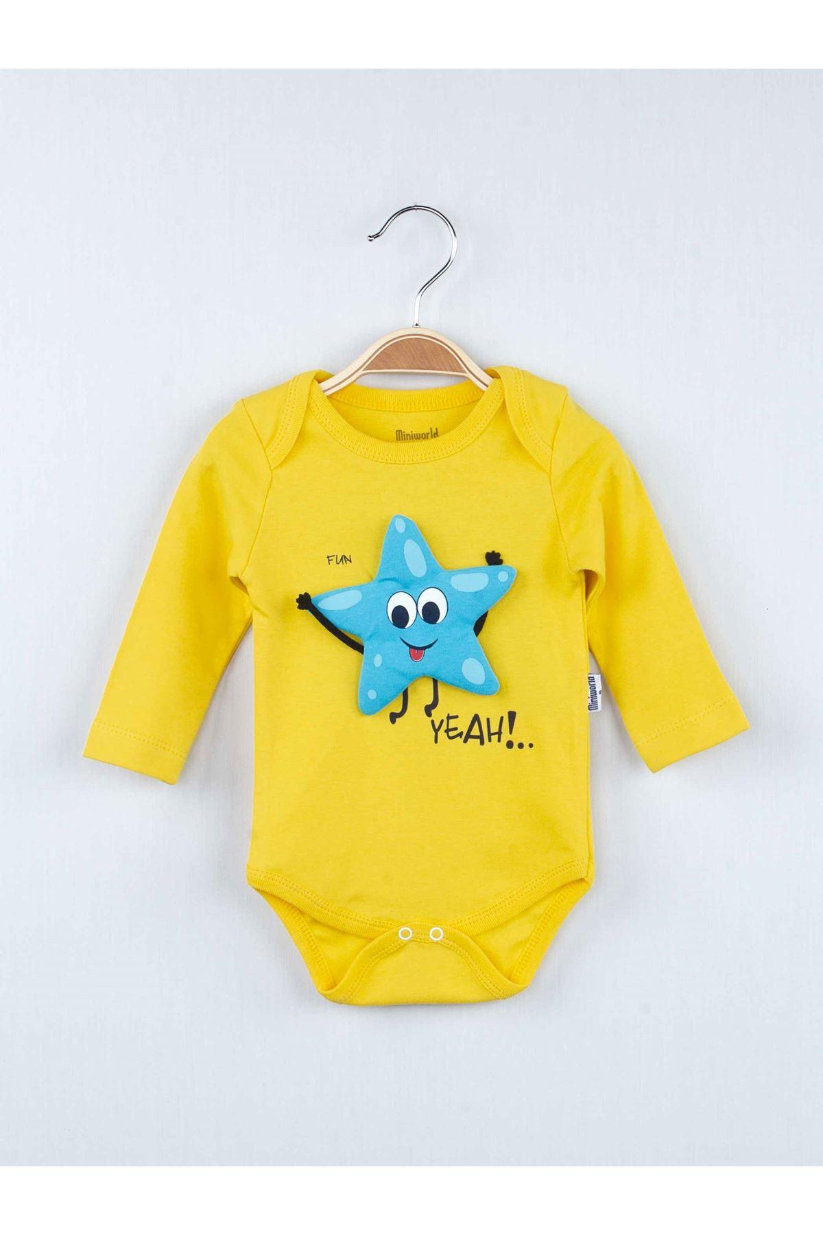 Sarı Mevsimlik Erkek Bebek Badili 3 lü Takım