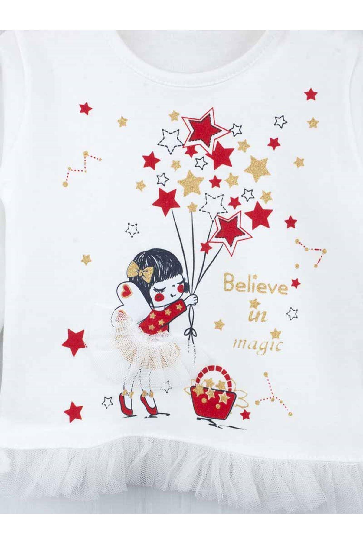 Kırmızı Mevsimlik Kız Bebek 2li Takım