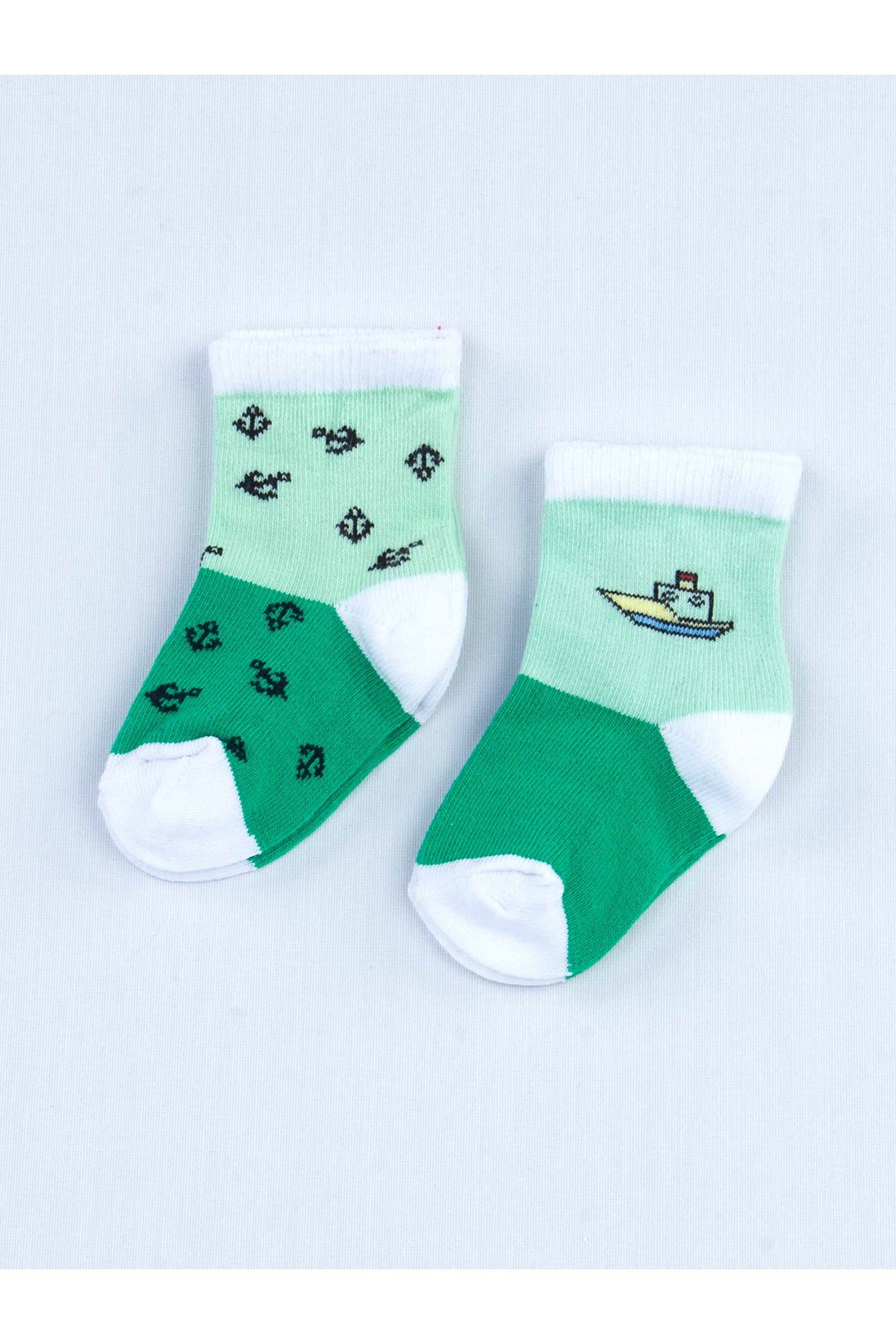 Green Scented Baby Boy 2 Pieces Socks
