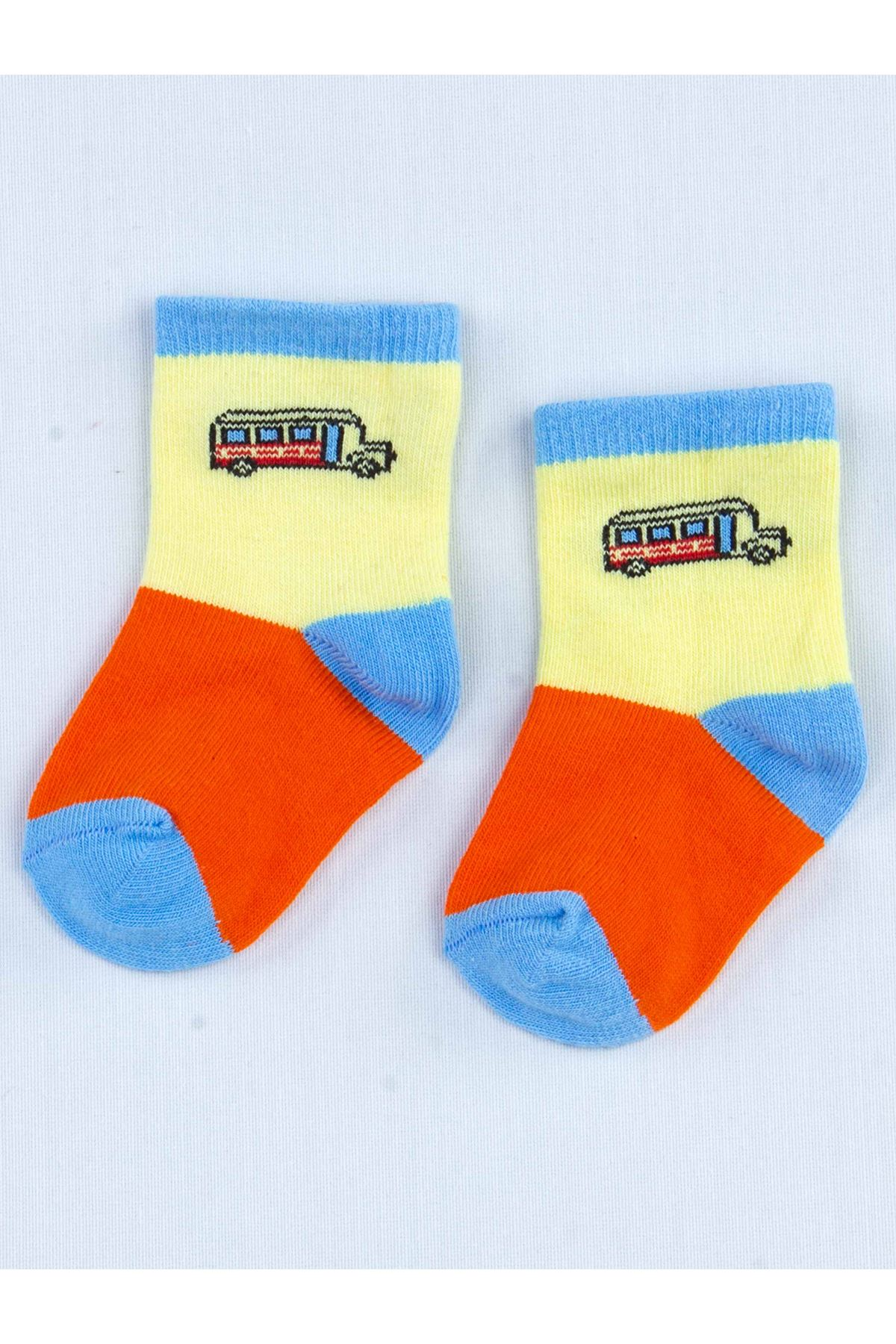 Orange Scented Baby Boy 2 Pieces Socks