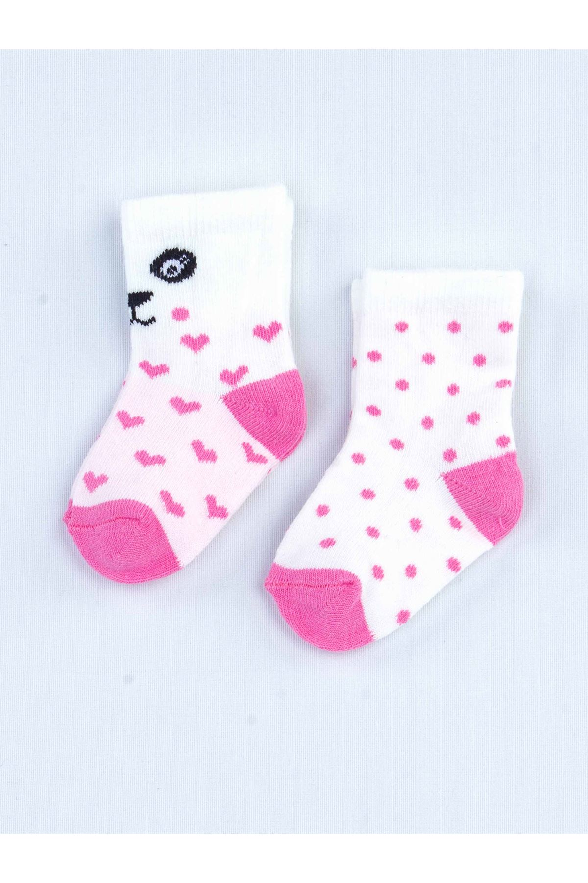White Scented Baby Girl 2 Pieces Socks